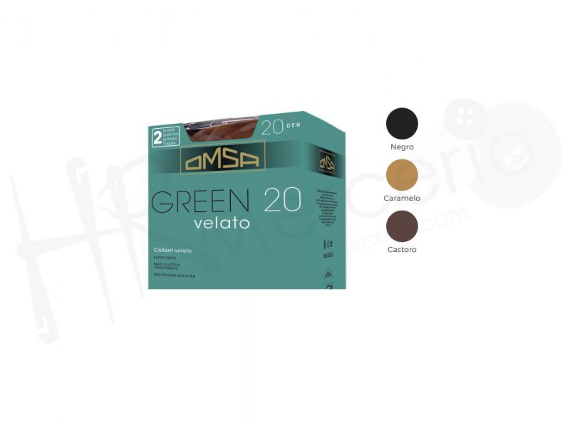 panty espuma green 20 den. pack 2 pares