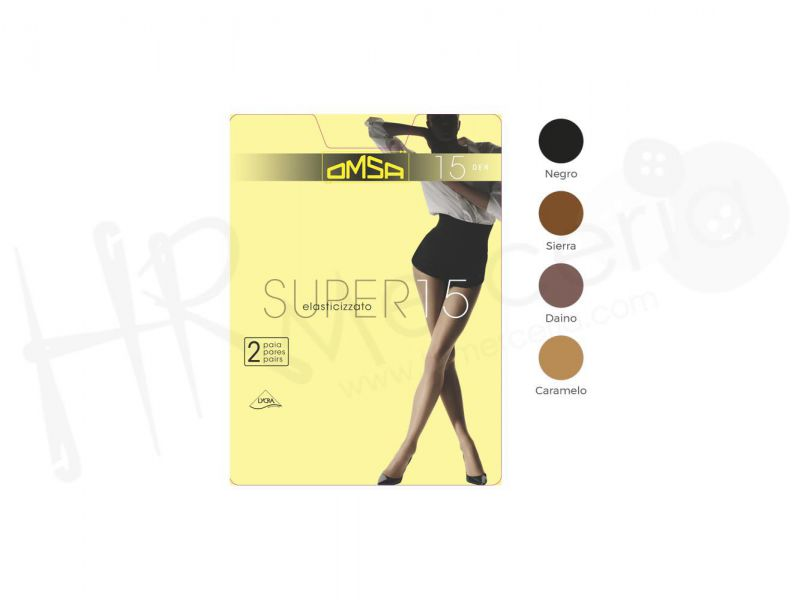panty super 15 omsa 109 pack 2 pares