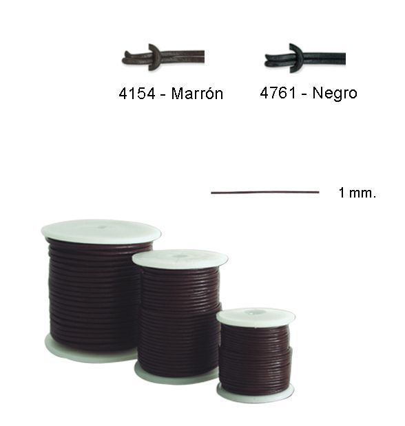 cordon 460420 cuero 1 mm pack 20 m